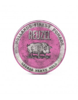 Pomada Reuzel Rosa, Aceite, fijación fuerte, Viaje 35 grs.