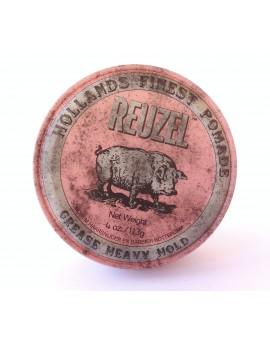Pomada Reuzel Rosa, base aceite, fijación fuerte113 grs.